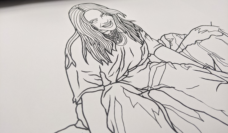 Billie Eilish Coloring Book 塗り絵