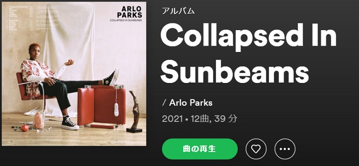 ARLO PARKS Collapsed In Sunbeams